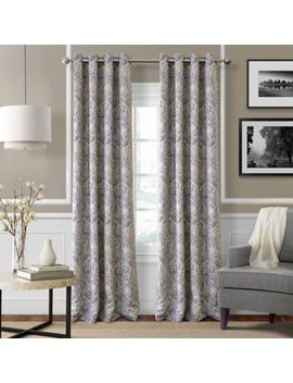 Julianne Blackout Grommet Top Window Curtain Panel by Bed Bath And Beyond
