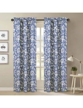 Nouvelle Home Porcelain 2 Piece Curtain Panel Set In Blue/White by Bed Bath And Beyond