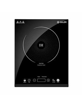 Portable Induction Cooktop, I Si Ler 1800 W Sensor Touch Electric Induction Cooker Cooktop With Kids Safety Lock, Countertop Burner With Timer And 8 Temperature Settings, Suitable For Cast Iron, Stainless Steel Cookware by I Si Ler
