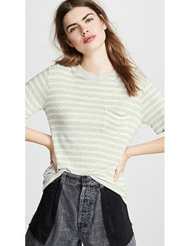 Wide Striped Pocket Tee by Alexanderwang.T