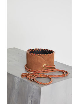 Faux Suede Wrap Belt by Bcbgmaxazria