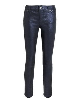 Barracuda Prince Leather Navy Pants by Rt A