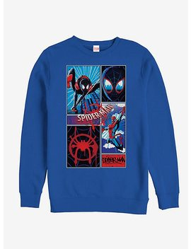Marvel Spider Man Spider Verse Comic Spiders Sweatshirt by Hot Topic