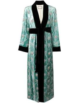 Embellished Robe Coat by Gucci