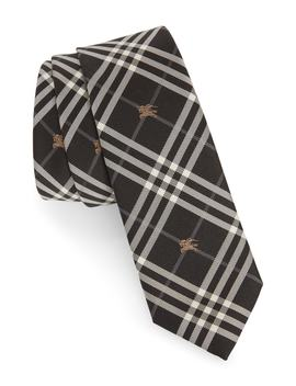 Stanfield Microcheck Silk Tie by Burberry
