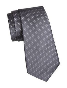 Pindot Silk Tie by Giorgio Armani