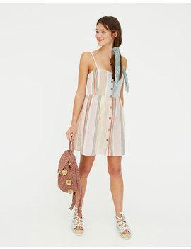 Φόρεμα Paradise ρουστίκ με πολλές ρίγες by Pull & Bear