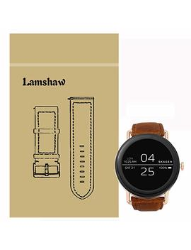 For Skagen Falster Band, Lamshaw Crazy Leather Strap Replacement Band For Skagen Falster 1 / Skagen Falster 2 Smartwatch (Crazy Leather  Brown) by Lamshaw