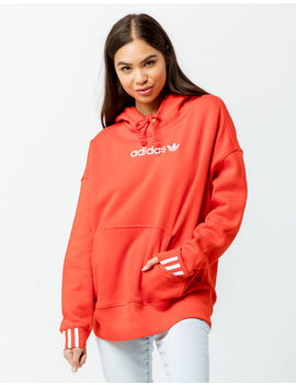 Adidas Coeeze Active Red Womens Oversized Hoodie by Adidas