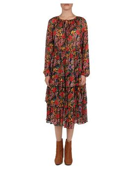 Floral Tiered Peasant Dress by The Kooples