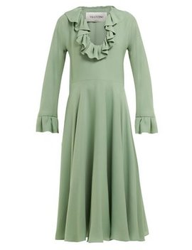 Ruffled Silk Georgette Dress by Valentino