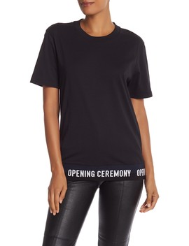 Elastic Logo Short Sleeve Tee by Opening Ceremony