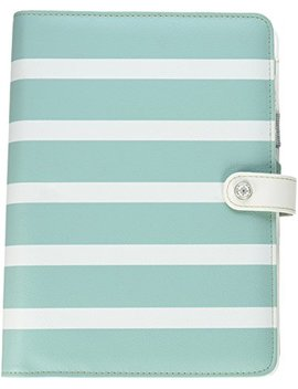 "Webster's Pages A5 Pk001 Tw U Teal Stripe Color Crush A5 Faux Leather Planner Kit, 7.5"" X 10"" by Webster's Pages"