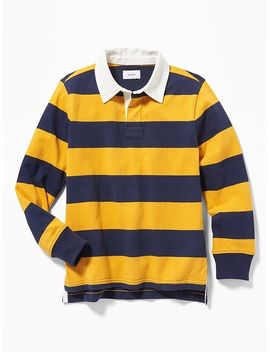 Striped Jersey Rugby For Boys by Old Navy