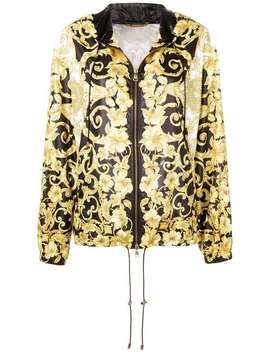 Barocco Print Hooded Jacket by Versace