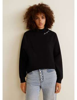 Sweatshirt Com Gola Perkins by Mango