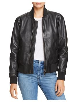 Leather Bomber Jacket by Hudson
