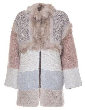 Stella Mccartney Colour Block Shearling Coat by Stella Mc Cartney
