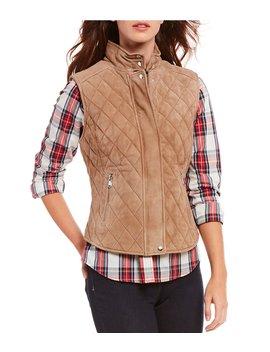 Lauren Suede Quilted Vest by Cremieux