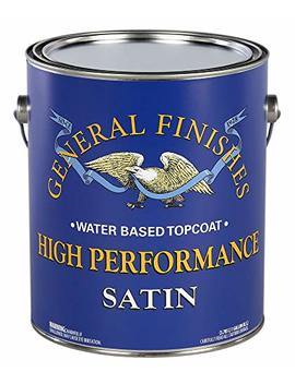 General Finishes High Performance Water Based Topcoat, 1 Gallon, Satin by General Finishes