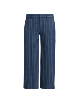 Pinstripe Denim Wide Leg Pant by Ralph Lauren