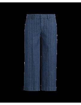 Pinstripe Denim Wide Leg Pant by Ralph Lauren