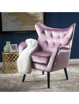 Ashton Mid Century Light Lavender Velvet Arm Chair by Great Deal Furniture