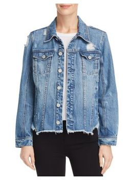Distressed Denim Jacket   100 Percents Exclusive by Blanknyc