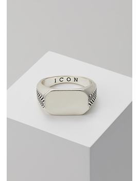 Herring Bone Signet Ring   Ring   Silver by Icon Brand