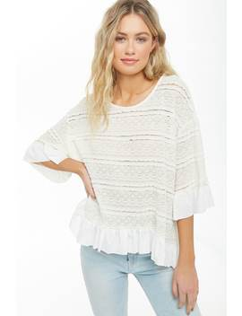 Ruffled High Low Lace Top by Forever 21