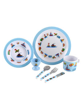 Martin Gulliver Trucks, Boats And Planes Melamine Dinner Set by Martin Gulliver