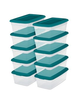Sterilite 6 Qt./5.7 L Storage Boxes, Teal Sachet (Set Of 10) by Sterilite