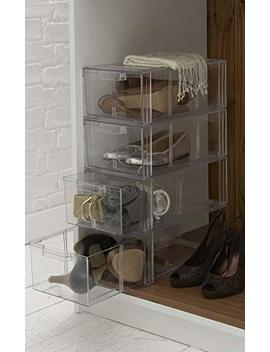 The Holding Company Large Stackable Acrylic Shoe Drawer by The Holding Company