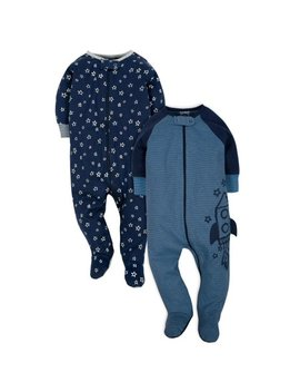 Organic Cotton Jersey Sleep N' Plays, 2pk (Baby Boy) by Gerber