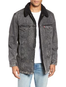 Long Fleece Lined Trucker Jacket by Levi's®