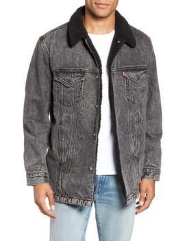 Long Fleece Lined Trucker Jacket by Levi's®