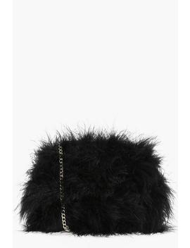 Molly Marabou Faux Fur Cross Body Bag by Boohoo