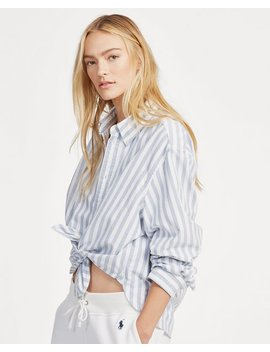 cropped-oxford-shirt by ralph-lauren