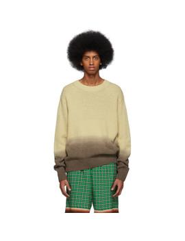 Beige & Brown Dégradé Nairobi Sweater by Dries Van Noten