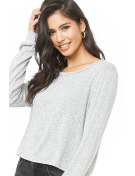 Marled Boxy Top by Forever 21