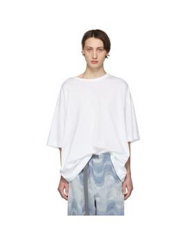 White Oversized Hoky T Shirt by Dries Van Noten
