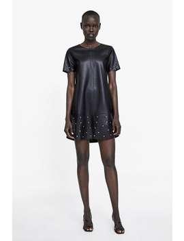 Ādas ImitĀcijas Kleita Ar KniedĒm  Skatīt Visu Kleitas Sieviete New Collection by Zara