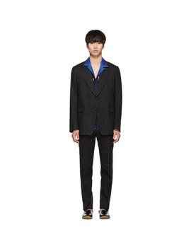 Black Keagan Suit by Dries Van Noten