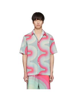 Green Verner Panton Edition Wave Carlton Bowling Shirt by Dries Van Noten