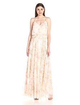 Jenny Yoo Women's Inesse Floral Chiffon Gown by Jenny Yoo
