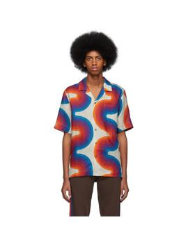 Off White Verner Panton Edition Wave Carlton Bowling Shirt by Dries Van Noten