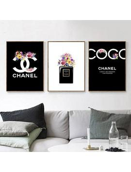 Inspired By Chanel Makeup Watercolor 3 Prints, Fashion Wall Art, Logo Set Of 3 Prints, Fashion Bottle Poster. #61 by Etsy