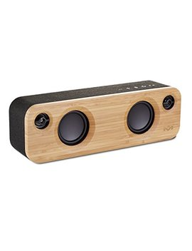 House Of Marley Get Together Mini Sistema Audio Bluetooth Wireless Portatile, Porta Usb Per Caricare Altri Dispositivi, Fino A 8h Di Riproduzione, 24 W, Ingresso Aux, Nero/Legno by House Of Marley