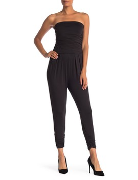 Strapless Ruched Jumpsuit by Lime Blue
