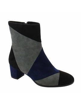 Nature Breeze Ff04 Women's Patchwork Chunky Heel Ankle Booties Half Size Small by Amazon